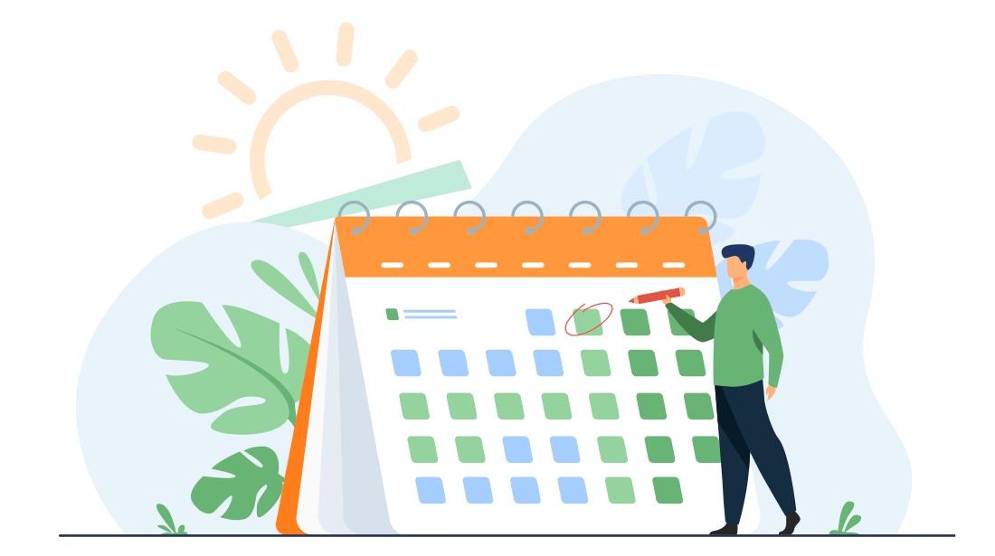 Calendario de reservas ilustración