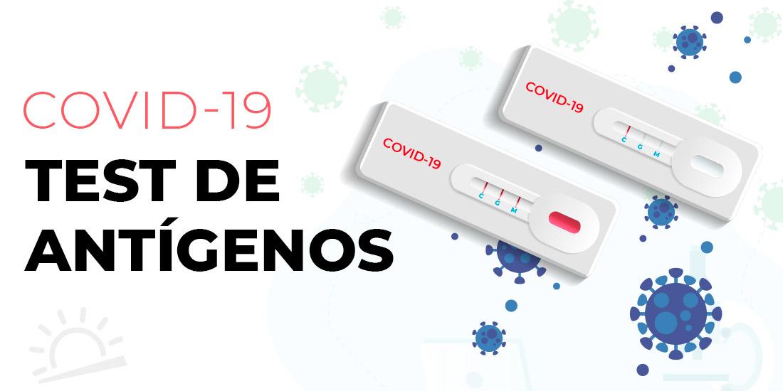 Imagen conceptual de un test rápido de antígenos COVID-19
